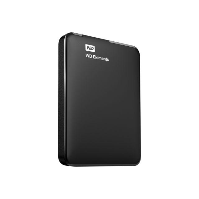 """WD Disque dur externe 2.5"""" - WDBUZG0010BBK - Noir Capacité : 1 ToHauteur : 15 mmInterfaces : 1 x USB 3.0Caractéristiques : Formatage NTFS"""