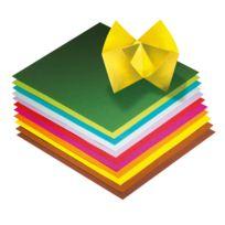 - papier pliage 15x15 assorti - pochette de 100
