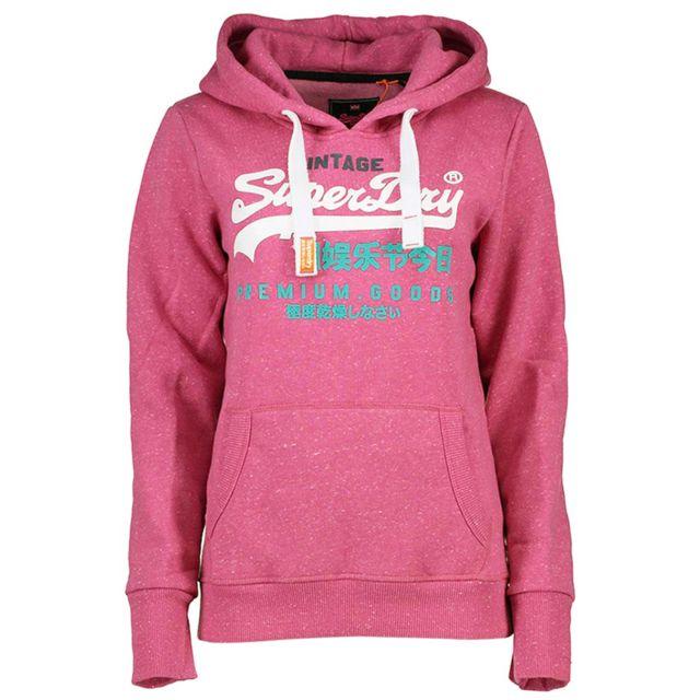 98134730f Premium Goods Tri Sweat Capuche Femme - Taille Xs - Rose