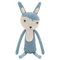 Sebra Interior - Peluche Lapin en Crochet - Bleu