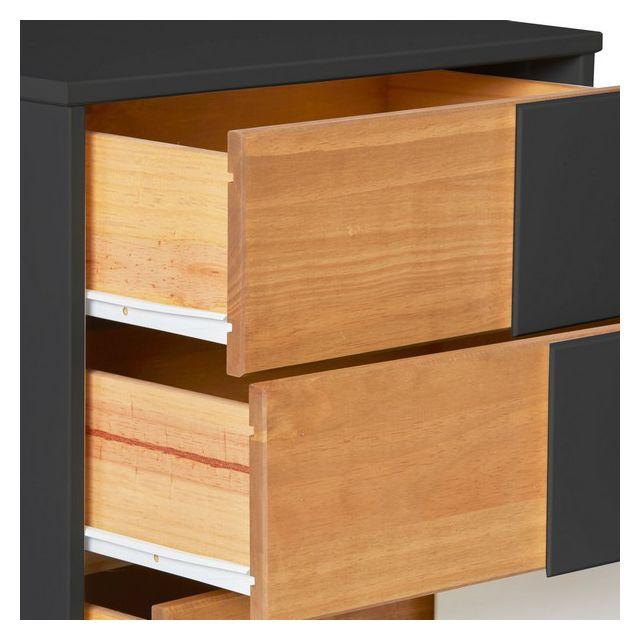 VS Venta-stock Commode 4 tiroirs Saona Blanc Fabriqu/é en Bois de pin Massif