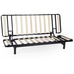 declikdeco banquette clic clac m tal noir structure. Black Bedroom Furniture Sets. Home Design Ideas