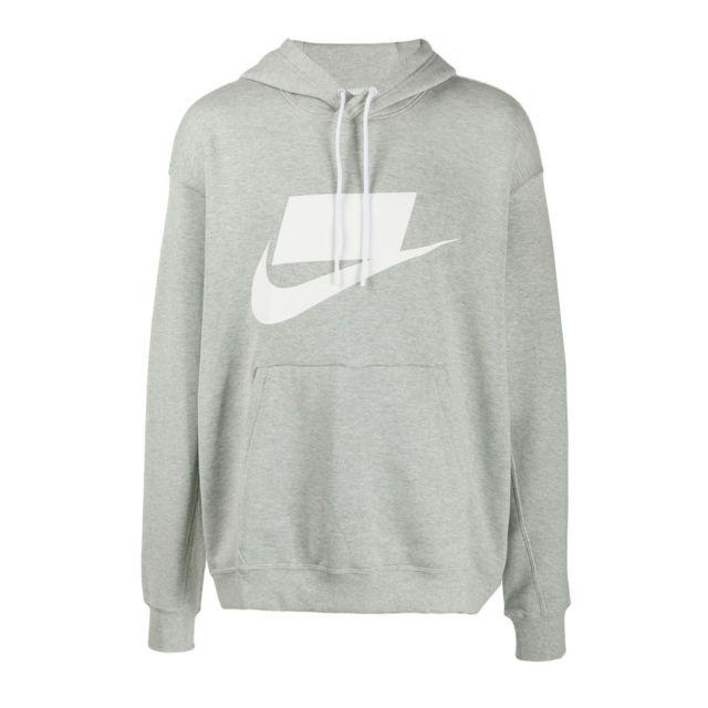 hoodie nike gris homme