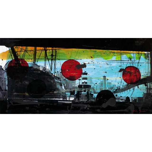 NOUVELLES IMAGES Affiche port de Manhattan