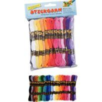 - sachet de 52 échevettes de coton, couleurs assorties