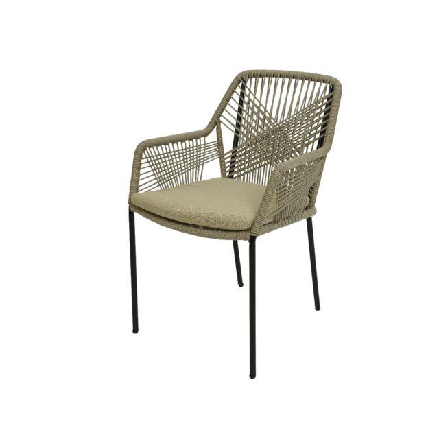 JARDIDECO Chaise de jardin Séville Beige pas cher Achat