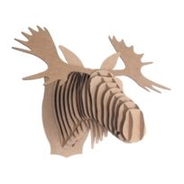 Cardboard Safari - Tête Élan en Carton Recyclé - Taille M