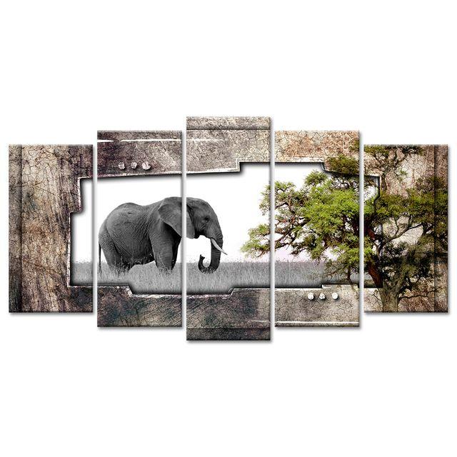 declina toile murale photo l phant pas ch re d coration murale africaine pas cher achat. Black Bedroom Furniture Sets. Home Design Ideas