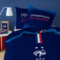 25c9b2396f497 Fff - Parure de lit équipe de France - Housse de couette + taie d'