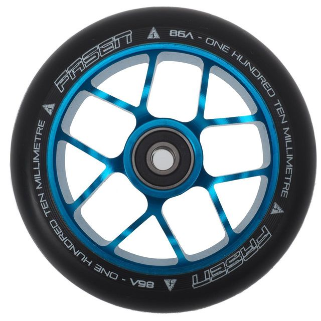 Fasen - Roue de trottinette Jet teal 110mm ab9 Bleu 15242
