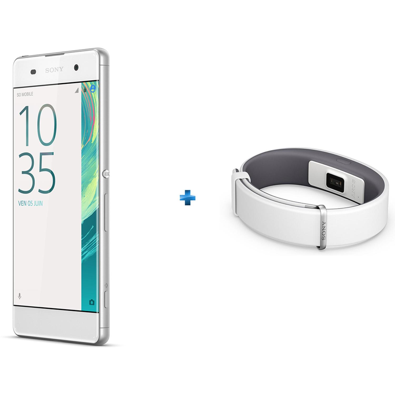 Xperia XA 16Go SS Blanc + Bracelet connecté SmartBand 2 - SWR12 Blanc