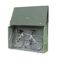 Trimetals - Abri vélos en métal vert 1,85x0,76x1,39 avec plancher- Abrivelosesame_VERT