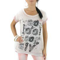 Cendriyon - Tee Shirt Coupe Loose Rose Isacia