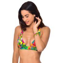 36ab843a39 Banana Moon - Haut de maillot de bain Triangle Push Up Tropicool Maho Vert