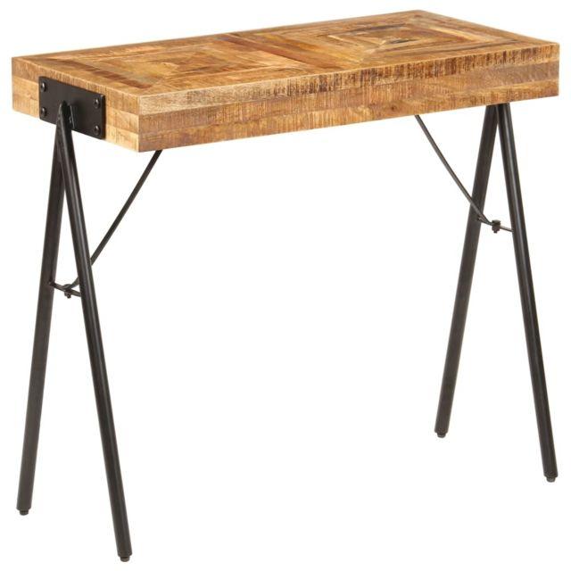 Vidaxl Bois Manguier Massif Table Console Salon Entrée Bureau Table d'Appoint