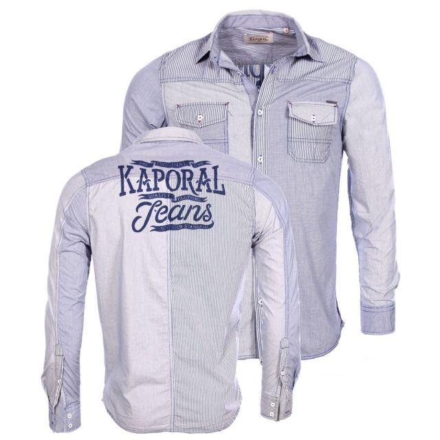Kaporal 5 - Kaporal - Homme - Chemise manches longues Torki bleu 2016 5f50090b0171