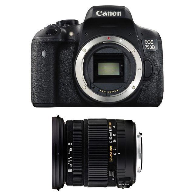 Canon Eos 750D + Sigma 17-50mm F2.8 Dc Os Ex Hsm Garanti 3 ans