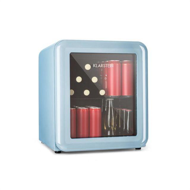 KLARSTEIN PopLife Réfrigérateur à boissons 48L Minibar 0-10°C design rétro bleu