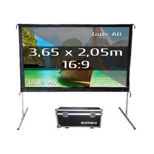 kimex ecran de projection valise 3 65 x 2 05m format 16. Black Bedroom Furniture Sets. Home Design Ideas