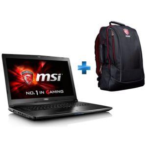 MSI - GL72 7RD-261FR - Noir + Sac à dos Gaming