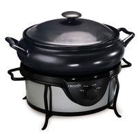 Crock-pot - Mijoteuse sauteuse électrique 4.7 litres Sc7500 Chrome et noir anti-traces
