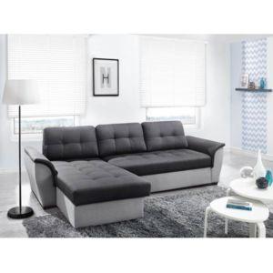 rocambolesk canap d 39 angle convertible nevo gris fonc gris clair avec coffre 264cm x 85cm x. Black Bedroom Furniture Sets. Home Design Ideas
