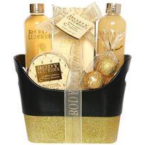 Gloss - Corbeille de Bain Body Luxurious Gold - Vanille & Tilleul - 6 pièces