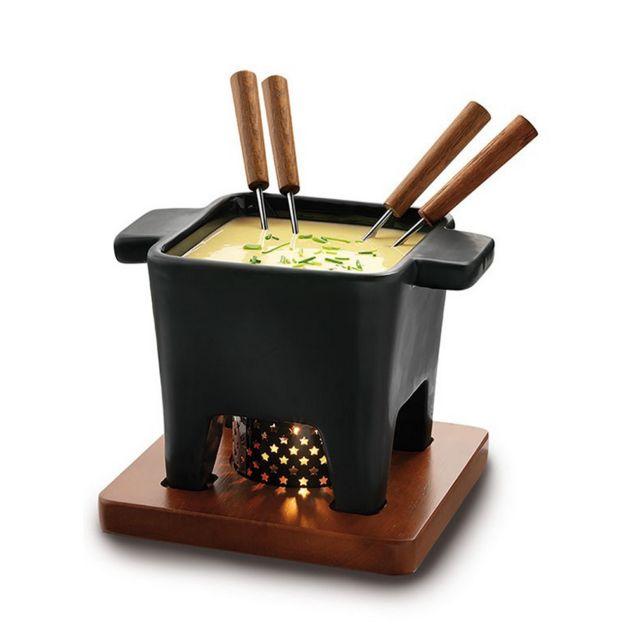 BOSKA service à fondue 4 fourchettes noir - 853529