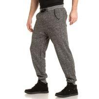 Deeluxe - Pantalon jogging gris foncé chiné