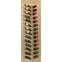 Sobrio - Porte-Bouteilles mural en plexiglas pour 28 bouteilles de champagne illumination Led optionnelle Plexiglas transparent Aci-sbr133
