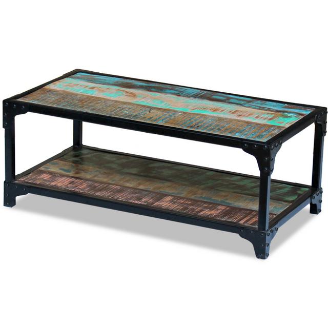 vidaxl table basse bois de r cup ration massif pas cher achat vente tables basses. Black Bedroom Furniture Sets. Home Design Ideas