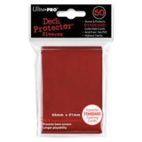 Ultra Pro - Dés et Accessoires - 50 pochettes Deck Protector Solid Rouge