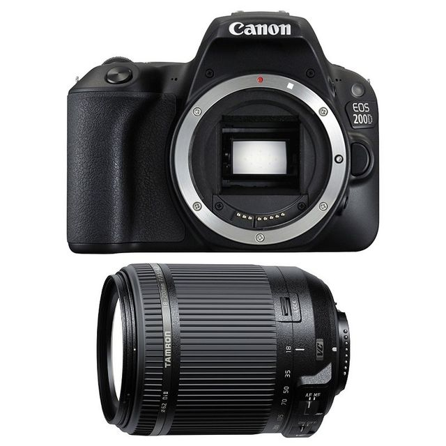 Canon Eos 200D + Tamron 18-200 F/3.5-6.3 Di Ii Vc Garanti 3 ans