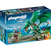 PLAYMOBIL - KNIGHTS - Chevalier avec grand dragon vert - 6003