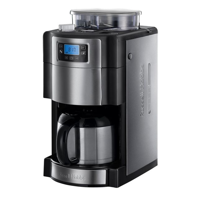russell hobbs cafeti re isotherme avec broyeur int gr programmable 10 tasses 1000w 21430 56. Black Bedroom Furniture Sets. Home Design Ideas
