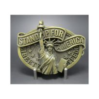 Universel - Boucle de ceinture statue de la liberté bronze fan america