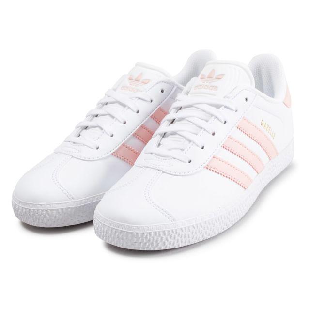 adidas gazelle junior blanche et rose