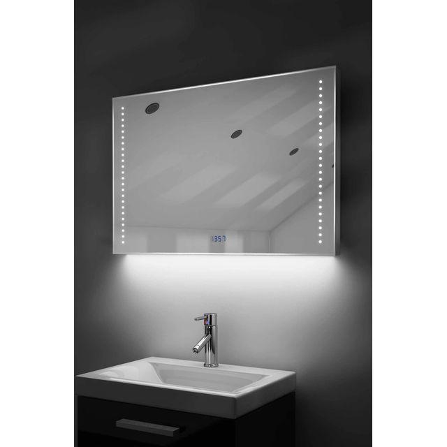 Diamond X Collection - Miroir Salle De Bain Horloge Num Lumineux Rvb ...