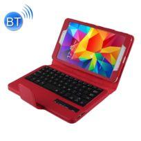 Wewoo - Clavier rouge pour Samsung Galaxy Tab 4 8.0 / T330 Séparable Litchi Texture Horizontal Housse en cuir Flip + Bluetooth avec support & Fonction Selfie