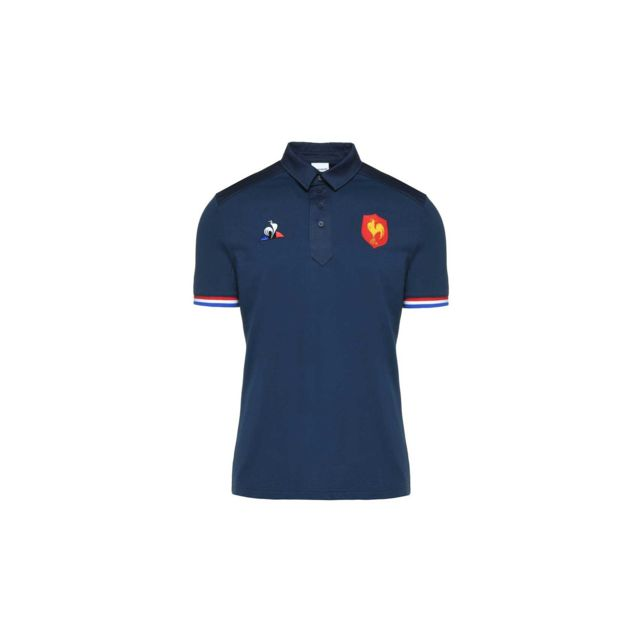 657d40809c Le Coq Sportif - Polo rugby Xv de France 2018/2019 - pas cher Achat / Vente Polo  homme - RueDuCommerce