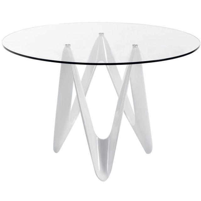 Extremement COMFORIUM - Table à manger design rond avec pieds en fibre de TH-81