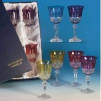 Cristallerie Markhbein - Coffret de 6 Roemers aux couleurs assorties-Verre à vin du Rhin par Markhbein