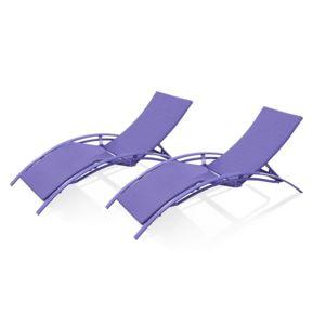 Dcb garden lot de 2 chaises longues en r sine tress e for Chaise longue en resine tressee pas cher