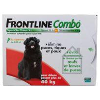 Frontline - Combo - Pipettes Antiparasitaire pour Chien de 40 à 60Kg - 6x4,02ml