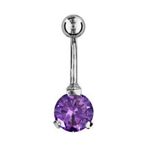 1001 bijoux piercing nombril pierre violet pas cher achat vente piercings nombril. Black Bedroom Furniture Sets. Home Design Ideas