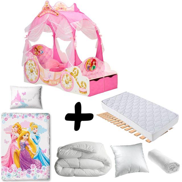 Bebe gavroche pack complet premium lit carrosse princesse disney lit matelas parure - Lit carrosse princesse disney ...