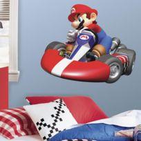 Mon Beau Tapis - Stickers Nintendo Mario Kart Wii Géant Roommates Repositionnables 81x68cm