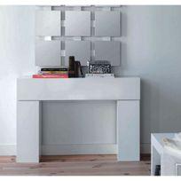 Cubisl - Console - Laqué Blanc brillant - 110x29x75 - L'unité