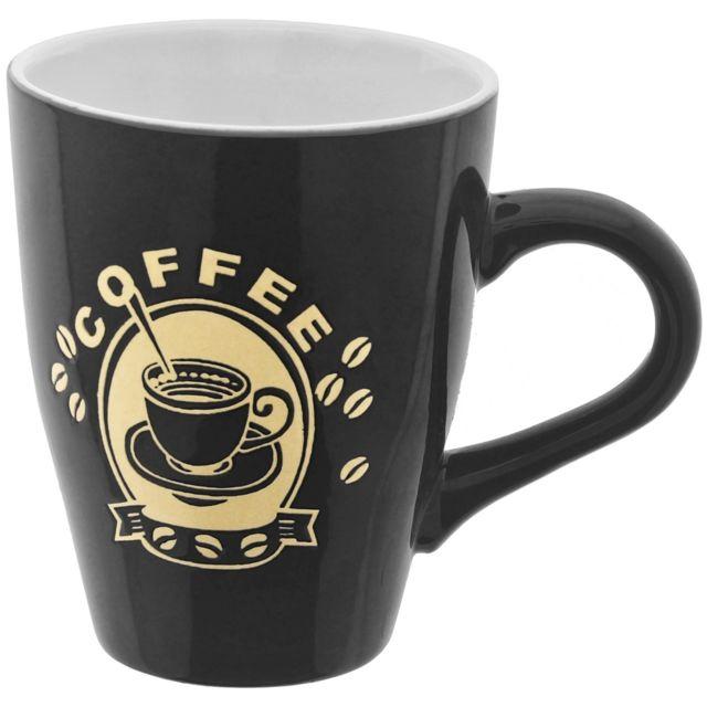 Promobo Mug Tasse A Café 300ml Design Pub Vintage Chic Coffee Noir