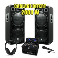 My Deejay - Pack Sono Dj Complet 2000W Ampli Mydj Lecteur Cd
